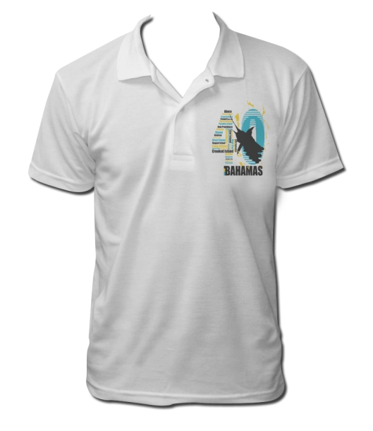 Bahamas Independence shirt white polo front