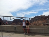 Tourists at the Mike O'Callaghan–Pat Tillman Memorial Bridge