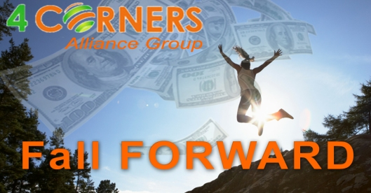 Fall forward with four corners
