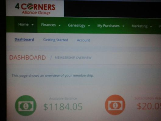 four corners account back office